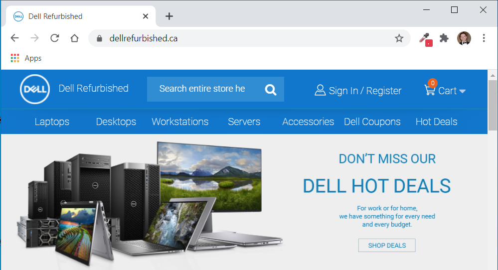 Dell Refurbished Website